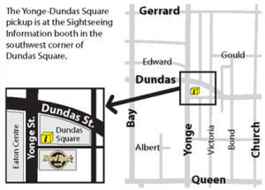 Yonge-Dundas Square pickup map